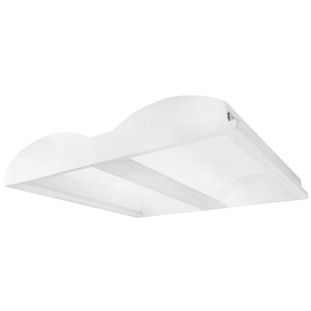 Soft White , 11- Inch TriGlow T84041 11 LED Square Cloud Flush Mount Fixture Dimmable Light Fixture 3000K