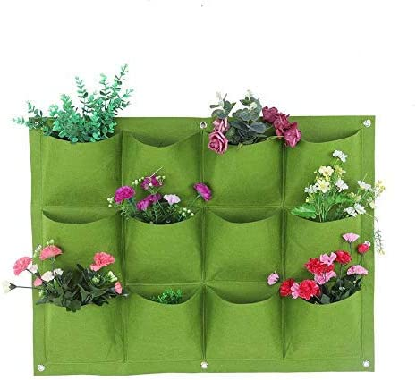 Jeffergarden 12-Pockets Degradable Vertical Colgante Planta de ...