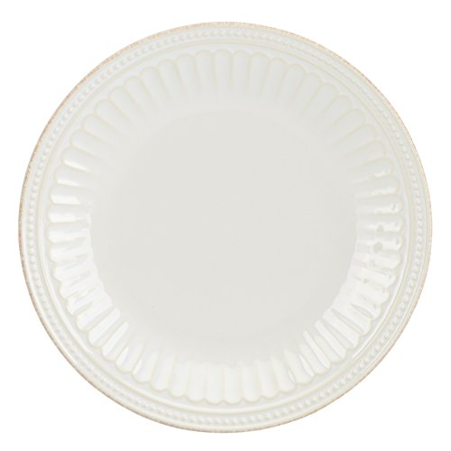 French Dinnerware Salad Plate (Lenox French Perle Groove Accent Plate, White)