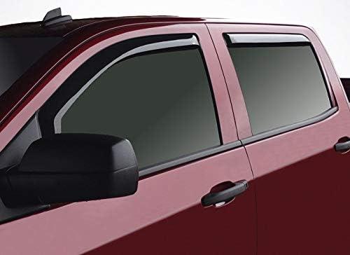 4 pcs Original Window Deflectors Vent Window Visors CLIM ART in-Channel Incredibly Durable Rain Guards Chevy Silverado 14-18 Crew Cab - 614003 Dark Smoke