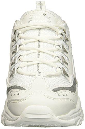 Donna Skechers 11923 Sneaker Argento D'Liteful Bianco D'Lites pp1qI0