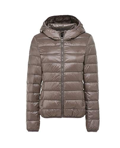 security Women Waterproof Winter Hoodie Coats Lightweight Down Jackets Khaki