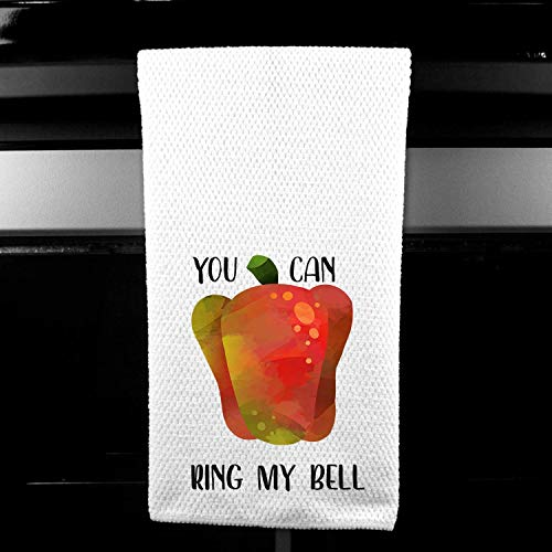 (You Can Ring My Bell Pepper Hilarious Kitchen Bar Towel Gift)