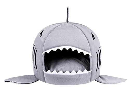 Cheap Shark Pet Cat Puppy Sleeping Bag,Warm Dog Bed Kennels Cuddler House Hole Cave Doghole Nest Igloo Cozy Soft Bed For Small Medium Large Pets