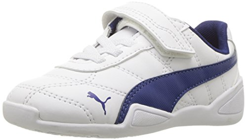 PUMA Baby Tune Cat 3 V, White-Blue Depths, 7 M US (Suede Cat Shoes)