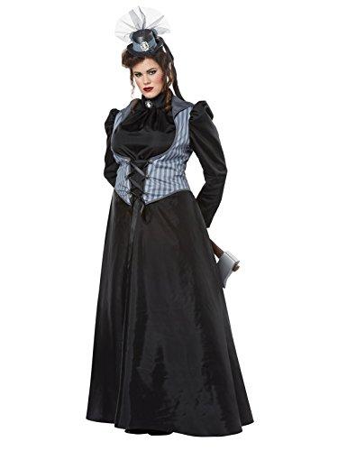 (California Costumes Women's Size Lizzie Borden/Axe Murderessadult Plus, Black/Gray)