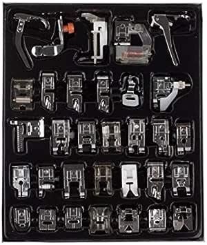 إكسسوارات آلة الخياطة المنزلية 32 قطعة آلة الخياطة المنزلية آلة الضغط القدم مجموعة مع صندوق للأخ المغني جانوم