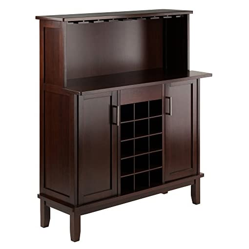 Home Bar Cabinetry Winsome Beynac Bar Cappuccino Wine Cabinet home bar cabinetry