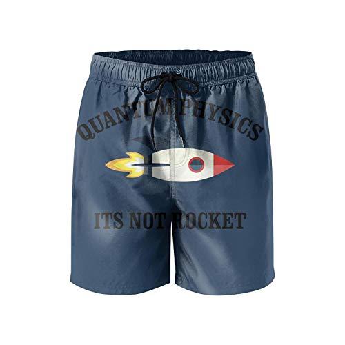 Quantum Boardshorts - Quantum Physics Its Not Rocket Mens Beach Swimming Trunks Boardshort Summer Funny Casual Swim Short