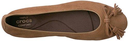 Talla Piso Crocs De Zapato Mujeres Hazelnut qwwT71xC
