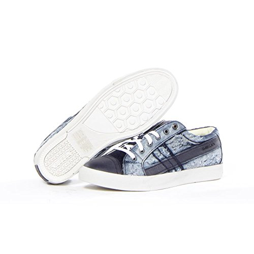 Diesel D-String Low Hombres Moda Zapatos Añil
