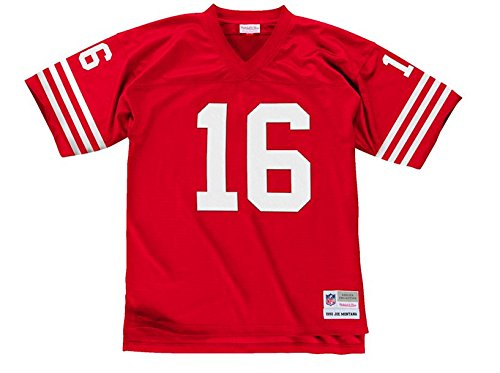 Joe Montana San Francisco 49ers Scarlet Red Throwback Jersey Small