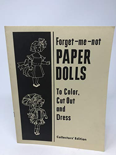 ntage 1973 - Forget-Me-Not Paper Dolls - to Color, Cut Out and Dress ()