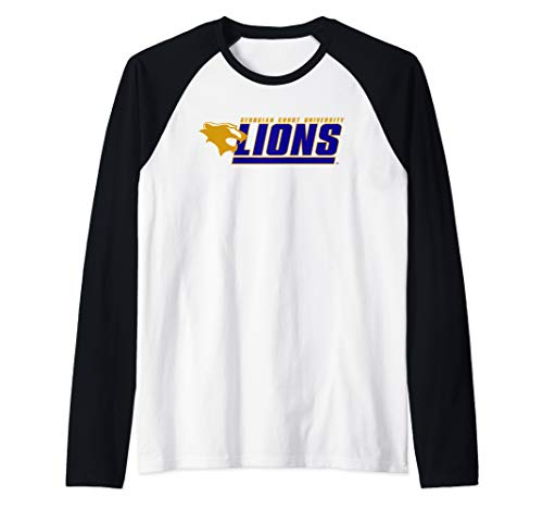 Georgian Court University Lions NCAA PPGTU02 Raglan Baseball Tee ()