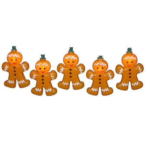 Kurt Adler 10-Light Gingerbread Light Set (Gingerbread Lights Man)