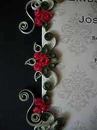 Custom Framed Wedding Gift-8x10 / Framed & Quilled Wedding Invitation - \