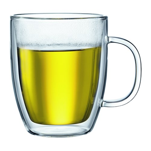 Bodum Bistro 2 Piece double wall 0.45 L 15 oz Jumbo Mug, Clear ()