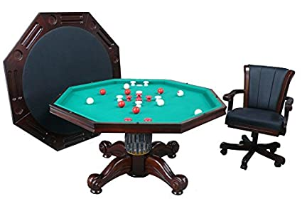 3 In 1 Game Table   Octagon 54u0026quot; Bumper Pool, Poker U0026 Dining With
