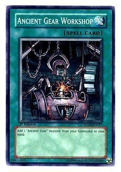 YuGiOh Machine Re-Volt Structure Deck Ancient Gear Workshop SD10-EN017 Common