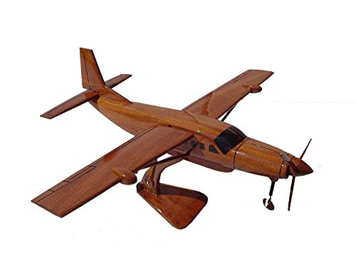 Cessna Caravan Mahogany Wood Desktop Aircraft Model from TESAUT MODELS