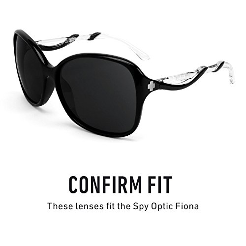 repuesto de Spy Chrome Fiona Optic para Polarizados — múltiples Opciones Lentes Mirrorshield Negro awAdtxw