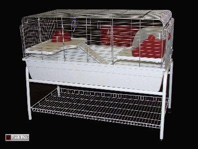 Jaula para Conejos en interiores extra grande 120 cm raberto ...
