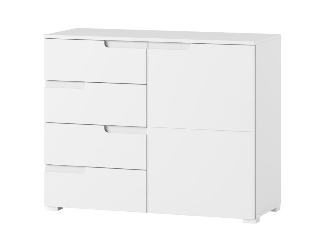 Cellini White Gloss Small Compact Sideboard S5- By RONZ RONZ LTD