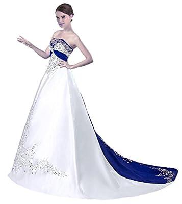 RohmBridal Women's Strapless Wedding Dress Bridal Gown