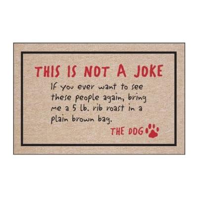 Haute Coton n'est pas un chien Joke-the Intérieur/extérieur Paillasson