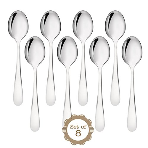 ONUBU Demitasse Espresso Mini 18/10 Stainless Steel Bistro Spoon, 10.4 cm (4 Inch), Set of (Demitasse Espresso Coffee)