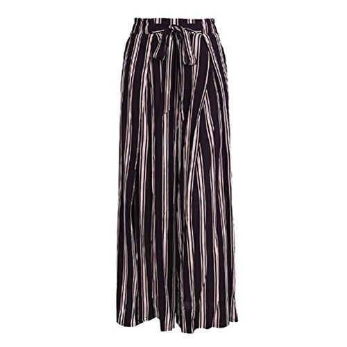 Righe Gamba Donna Primavera Streetwear 2xl Pantaloni Casuale S Ufficio A Loose Nero Larga Fit Estivi Mode Lunghi Per P8PwxBtqr