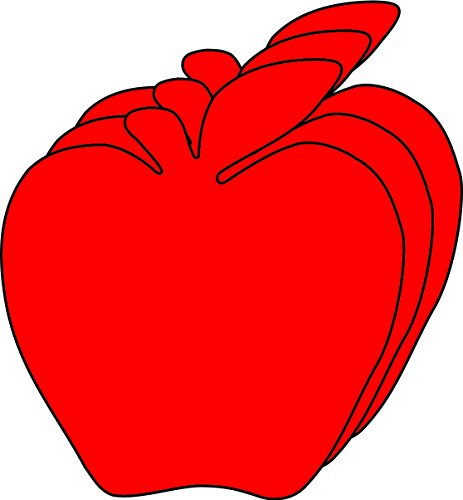 Red Apple Small Single Color Creative Cut-Outs