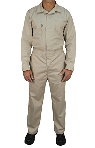 Kolossus Cotton Blend Long Sleeve Coverall (Khaki, L)]()
