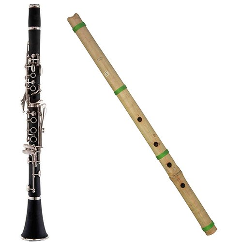 World Woodwind Pack - Bb Clarinet & Shakuhachi C4 Flute Woodwind Instrument Combo