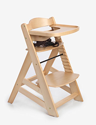 Hot Sale! Sepnine Wooden Baby Highchair Dinning Highchairs Height Right High Chair with Removeable Tracy 6561 Natural (Natural)
