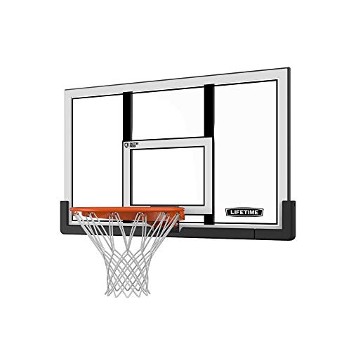 Lifetime 73729 48 in. Shatter Proof Backboard Rim Combo (Goal Basketball Garage)