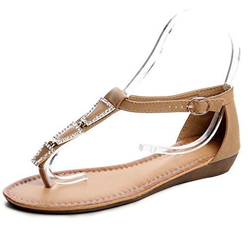 topschuhe24 - Sandalias de vestir de otros para mujer Marrón - Sparkle Braun