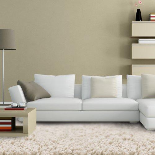 Floori® Shaggy Teppich | Creme - Größe wählbar - GuT-Siegel/PRODIS