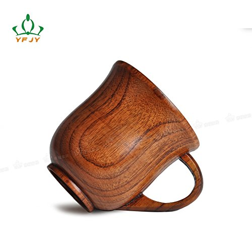 LiCHY original ecology wood wooden cup coffee mug cup glass insulation (Color Brown)