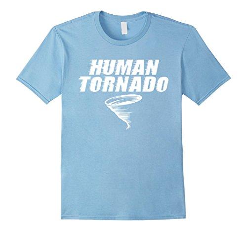 Cyclone Costumes (Mens Human Tornado Crazy Devil Cyclone Storm Funny T-Shirts 2XL Baby Blue)