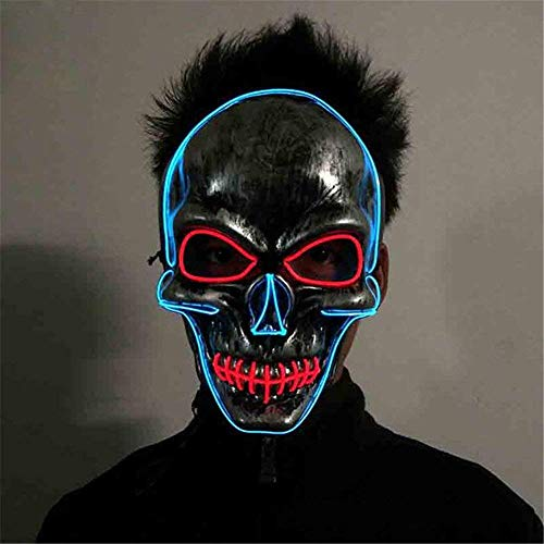Amazon.com : Ruanyi Halloween Horror Party Skull Head LED ...