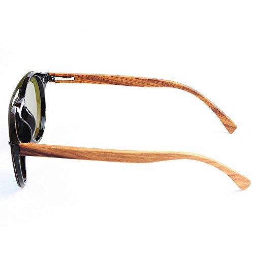 Frame PC Ultra Leg Lens TAC Bamboo Personalidad Men's Style Sunglasses Gimitunus Ligero Outdoor Sol Protección de Fishing Azul Beach Piece Gafas Driving Hombre One UV para Polarized 7pPCwdx