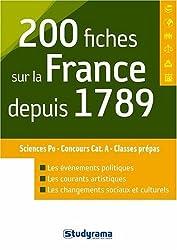 200 fiches sur la France depuis 1789