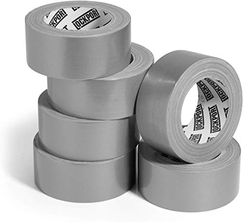 Heavy Duty Silver Duct Tape - 6 Roll Multi Pack Industrial Lot - 30 Yards x 2 inch Wide - Large Bulk Value Pack of Grey Original Extra Strength - No Residue, All Weather. Tear by Hand