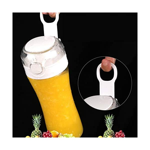 AMTSKR 400 ml portatile USB spremiagrumi elettrico macchina espulsore vetro mixer estrattore spirale verdura frutta… 4 spesavip