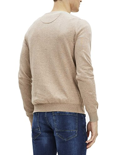 Beige heather Pull Homme Celio Beige Georges qSCBnW4