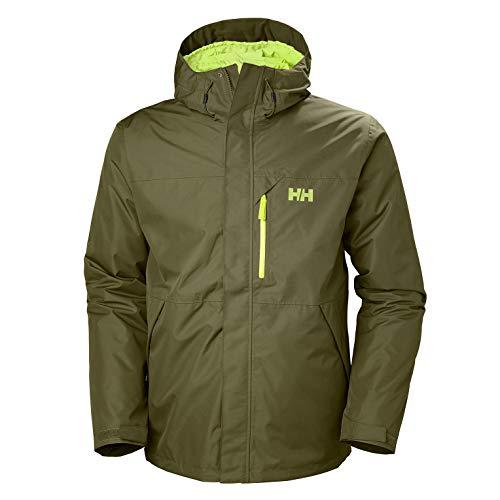 Helly Hansen Men's Squamish CIS 3-in-1 Waterproof Jacket with Zip Out Fleece Liner, 491 Ivy Green, X-Large
