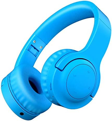 Picun Kids Bluetooth Headphones, 35 Hrs Playtime Foldable Stereo Kids Wireless Headphones with Type-C Fast Charge and Built-in Microphone for Phones Pad Tables PC, 2020 Upgraded Model E3 Blue