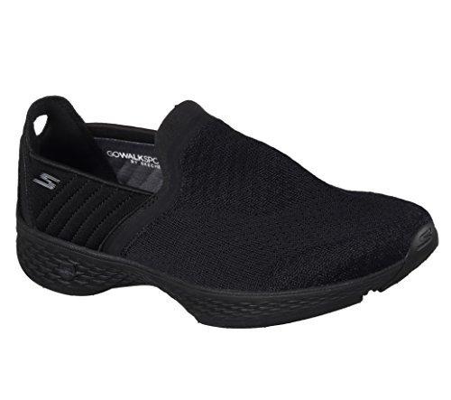 Skechers Ladies Go Walk Sport Slip-On Shoes Black 7 Medium
