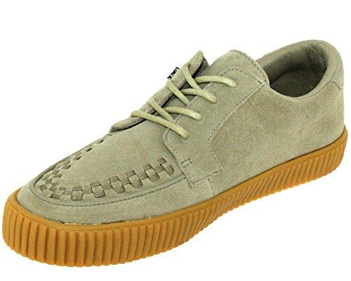 T.U.K. Shoes Mens EZC Sand Suede Gum Shoe Beige